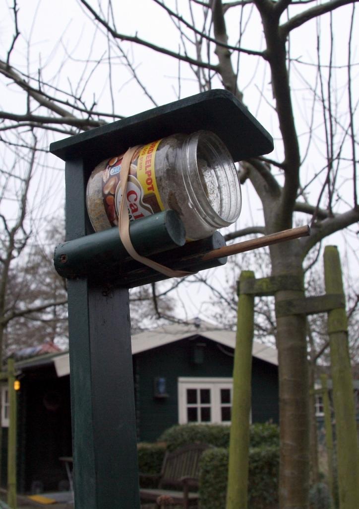 Vogelhuisjes en pindakaaspalen