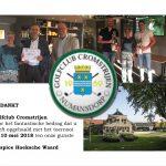 Fantastisch bedrag ontvangen van Golfclub Cromstrijen